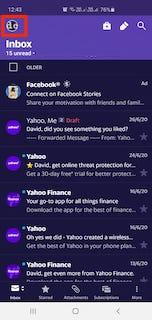 Yahoo mail mobile app profile picture